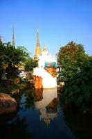 Water tower with reflection in Wat Pho temple photo
