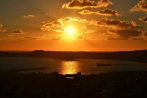 Mediterranean sea. Naples' bay. Campi Flegrei's view