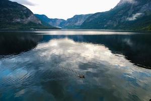 vista panorâmica da paisagem de hallstatt, áustria