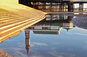 Blackpool Tower Reflection photo
