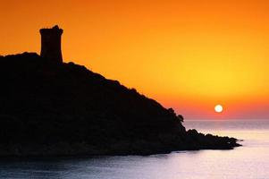 genoese tower in corsica photo