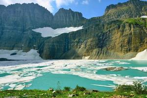 Grinnell glacier in Many Glaciers, Glacier National Park, Montana photo