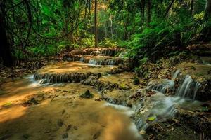 wonderful waterfall in thailand, Pugang chiangrai photo