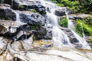 Mon Tha Than Waterfall In Chiang Mai  Thailand photo