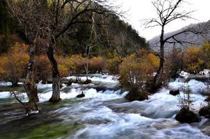Colorful autumn Jiuzhaigou photo