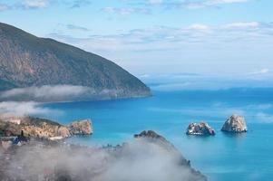 Ayuv Dag mountain and Hurzuf coastline. Crimea, Ukraine