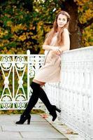 mujer de otoño. foto