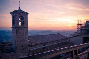 San-Marino oude stadscentrum stadsgezicht