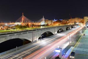 Boston Zakim Bunker Hill Bridge, EE.UU. foto