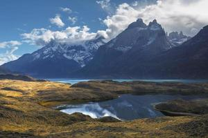 National park Torres del Paine, Patagonia, Chile photo