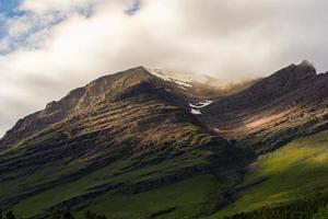 Close-up the peak
