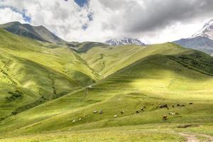 Mountain landscape around Kazbegi
