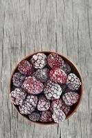 frozen blackberries photo