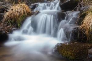 Autumn waterfall photo