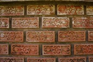 Carved Brick Wall