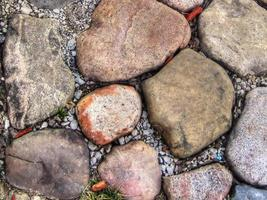 Garden stone in hdr photo