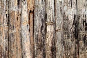 vecchia struttura di bambù
