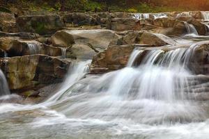 mountain river at autumn time photo