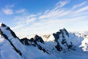 Snowy mountains photo