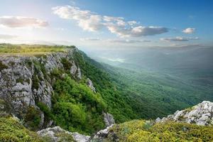meseta de la montaña foto