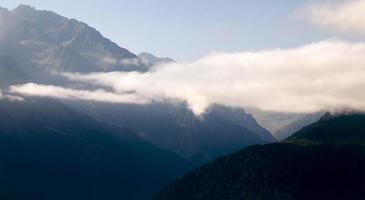picos de las montañas