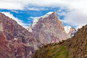 Mountain terrain panorama photo