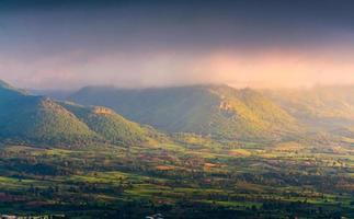 mountain with sunrise