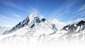 Snow mountain range