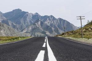 carretera de montaña altai
