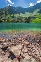 Crystal clear pond in the mountains