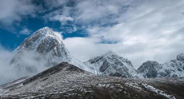Beautiful snow-capped mountains photo