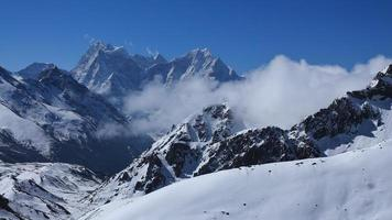 View from Gokyo Ri, Thamserku and Kangtega