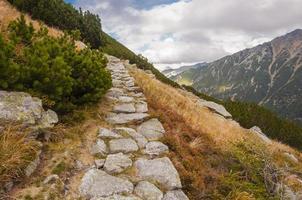 trilha nas montanhas