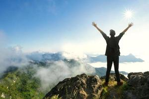 Top of a mountain photo