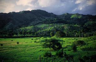 Beautiful mountain scenery Dominican photo