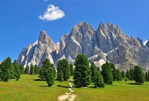 Mountain range in Dolomites photo