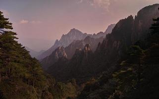 montañas huangshan, china. octubre. foto