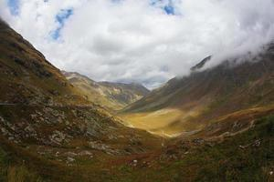 The valley in mountains