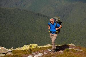 Hiking in Carpathian mountains