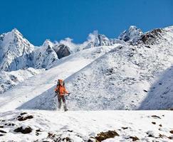 wandelen in de Himalaya-bergen