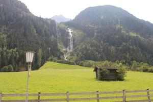 Waterfalls from the mountains photo