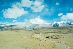 High Altitude Snowcapped Mountain