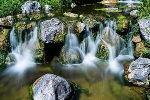 Mountain creek with waterfall photo