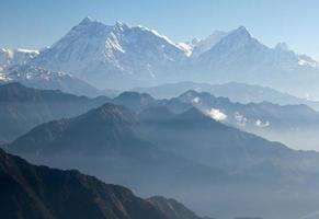 Blue horizons - view of Annapurna Himal - Nepal - Asia