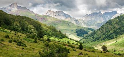 Paisaje de las montañas de los Pirineos en Huesca, España