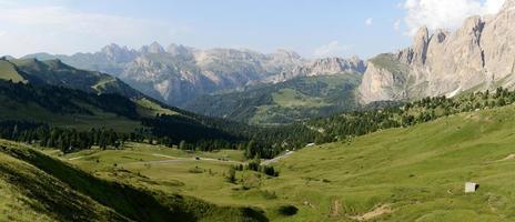 Panorama of Passo Giau