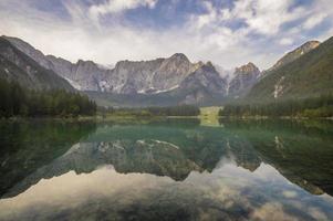 mountain lake in the Italian Alps photo