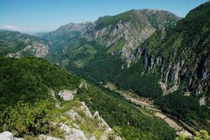 Cerna valley, a deep gorge from Romania