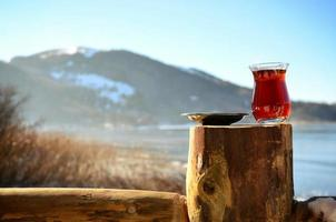 Tea by the mountains photo