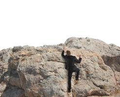 Business climbs a mountain